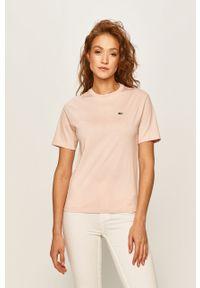 Różowa bluzka Lacoste casualowa, na co dzień