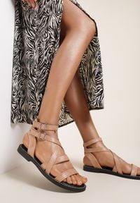 Renee - Różowe Sandały Cnassinix. Kolor: różowy