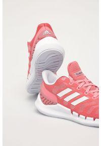 Buty sportowe adidas Performance na niskim obcasie, z okrągłym noskiem, na sznurówki, z cholewką