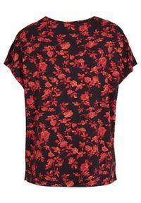Shirt z dekoltem w serek, z nadrukiem bonprix czarny w kwiaty. Typ kołnierza: dekolt w serek. Kolor: czarny. Wzór: kwiaty, nadruk