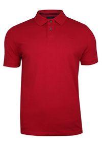 Czerwona Bawełniana Koszulka POLO -Adriano Guinari- Męska, Krótki Rękaw, z Kołnierzykiem, Casualowa. Okazja: na co dzień. Typ kołnierza: polo. Kolor: czerwony. Materiał: bawełna. Długość rękawa: krótki rękaw. Długość: krótkie. Styl: casual