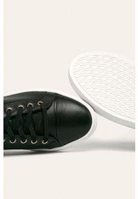Czarne buty sportowe vagabond na sznurówki, z okrągłym noskiem, z cholewką