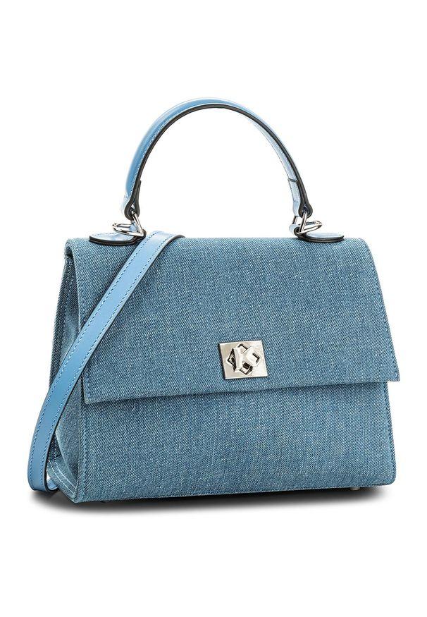 Niebieska torebka klasyczna Kazar