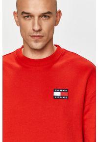 Czerwona bluza nierozpinana Tommy Jeans bez kaptura