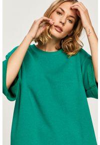 Zielona bluza Answear Lab wakacyjna, bez kaptura