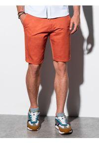 Czerwone szorty Ombre Clothing na lato, krótkie, casualowe, na co dzień