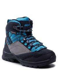 Alpina - Trekkingi ALPINA - Alc Jr 6428-2 Blue/Grey. Okazja: na spacer. Kolor: niebieski. Materiał: materiał, zamsz, skóra
