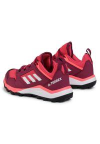 Różowe buty do biegania Adidas na co dzień, z cholewką, Adidas Terrex
