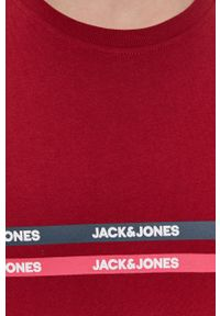 Jack & Jones - T-shirt bawełniany. Kolor: czerwony. Materiał: bawełna. Wzór: nadruk
