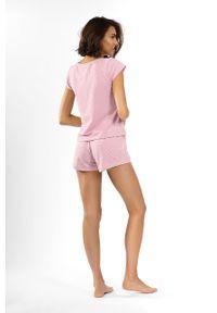 Różowa piżama Lorin krótka
