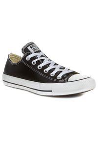 Czarne trampki Converse z cholewką