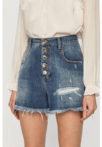 Pinko - Szorty jeansowe. Stan: podwyższony. Kolor: niebieski. Materiał: jeans