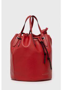 Sisley - Torebka. Kolor: czerwony. Rodzaj torebki: na ramię