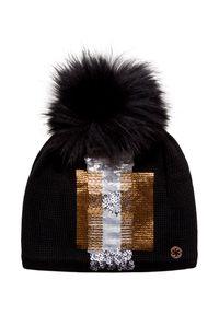 Czarna czapka Granadilla z aplikacjami, glamour
