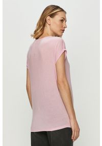 Różowa bluzka Vero Moda casualowa, na co dzień