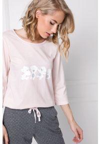 Aruelle - Piżama Fiona. Kolor: różowy. Długość: długie