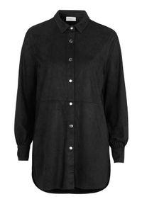 Freequent Koszula ze sztucznego zamszu Rya Czarny female czarny L (42). Kolor: czarny. Materiał: zamsz. Długość: krótkie