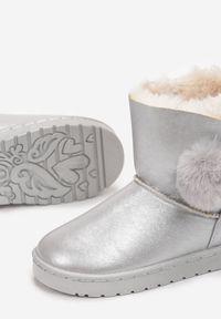 Born2be - Srebrne Śniegowce Vhesanya. Kolor: srebrny