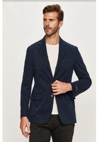 Polo Ralph Lauren - Marynarka. Typ kołnierza: polo. Kolor: niebieski. Materiał: tkanina. Styl: klasyczny
