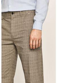 Szare spodnie Calvin Klein na co dzień, casualowe