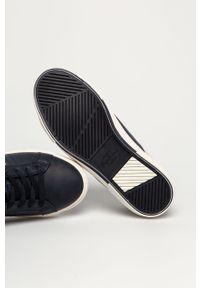 Niebieskie sneakersy Pepe Jeans na sznurówki, z cholewką