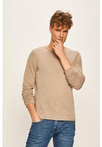 Premium by Jack&Jones - Sweter. Okazja: na co dzień. Kolor: beżowy. Materiał: dzianina. Styl: casual