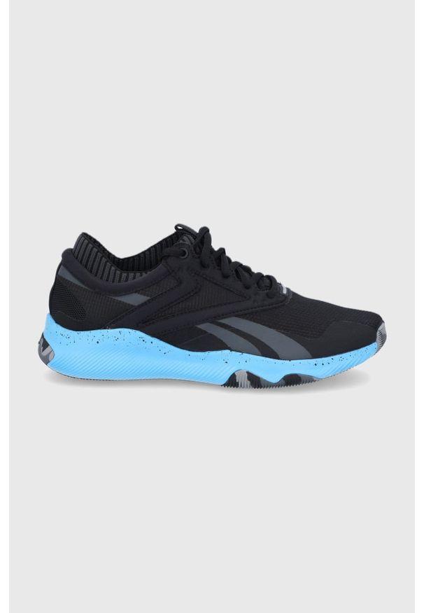 Reebok - Buty Hiit Tr. Nosek buta: okrągły. Zapięcie: sznurówki. Kolor: czarny. Materiał: guma, syntetyk, materiał. Szerokość cholewki: normalna