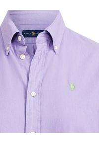 Ralph Lauren - RALPH LAUREN - Koszula Oxford. Typ kołnierza: polo. Kolor: wielokolorowy, fioletowy, różowy. Materiał: materiał, bawełna. Długość rękawa: długi rękaw. Długość: długie. Wzór: haft #5