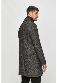 Czarny płaszcz Strellson bez kaptura, casualowy, na co dzień