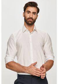 Biała koszula Hugo z klasycznym kołnierzykiem, gładkie, na co dzień, z długim rękawem