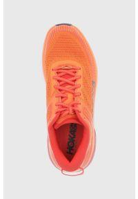Hoka One One - Buty Bondi 7. Nosek buta: okrągły. Zapięcie: sznurówki. Kolor: pomarańczowy. Wzór: geometria. Sport: bieganie