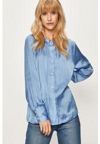 Niebieska koszula only ze stójką, długa