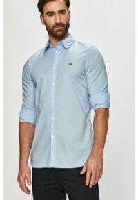 Lacoste - Koszula bawełniana. Kolor: niebieski. Materiał: bawełna