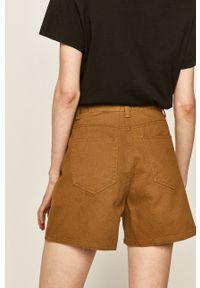 ANSWEAR - Answear - Szorty jeansowe. Okazja: na co dzień. Kolor: żółty. Materiał: jeans. Styl: casual