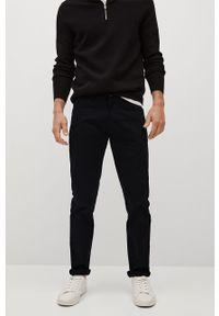 Czarne spodnie Mango Man gładkie