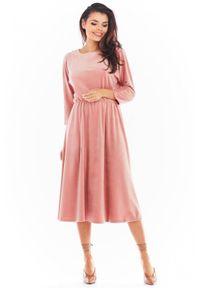 Sukienka Awama midi, casualowa, do pracy