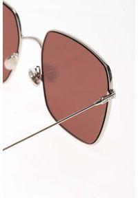 Srebrne okulary przeciwsłoneczne Dior