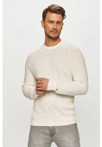 Biały sweter TOMMY HILFIGER z długim rękawem, długi