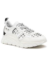 John Richmond - Sneakersy JOHN RICHMOND - 10148 B Bianco. Okazja: na co dzień. Kolor: biały. Materiał: skóra. Szerokość cholewki: normalna. Wzór: aplikacja. Styl: casual, elegancki