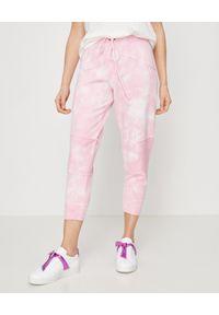 LOVE SHACK FANCY - Różowe spodnie dresowe. Kolekcja: plus size. Kolor: wielokolorowy, fioletowy, różowy. Materiał: dresówka