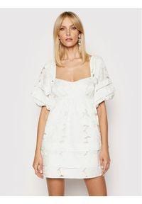 For Love & Lemons Sukienka koktajlowa Evelyn CD2350 Biały Regular Fit. Kolor: biały. Styl: wizytowy