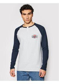 Szara koszulka z długim rękawem Quiksilver z kołnierzem typu henley
