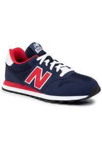 Niebieskie sneakersy New Balance na co dzień, z cholewką