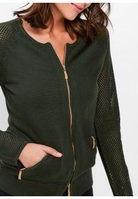 Zielony sweter bonprix klasyczny