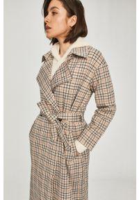 Beżowy płaszcz Answear Lab na co dzień, bez kaptura #5