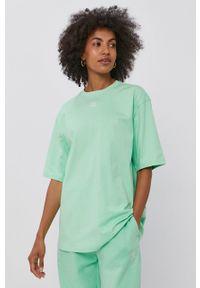 adidas Originals - T-shirt bawełniany. Kolor: zielony. Materiał: bawełna. Wzór: gładki