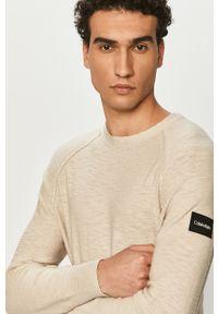 Sweter Calvin Klein długi, gładki