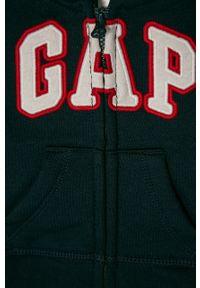 Niebieska bluza rozpinana GAP z aplikacjami, casualowa