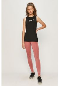 Czarny top Nike z nadrukiem, na co dzień, sportowy
