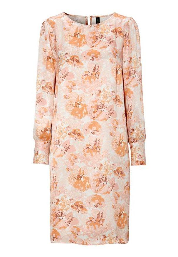 Soyaconcept Sukienka we wzory Eloise przydymiony róż w kwiaty female różowy/ze wzorem XXL (46). Kolor: różowy. Materiał: tkanina. Długość rękawa: długi rękaw. Wzór: kwiaty. Styl: elegancki